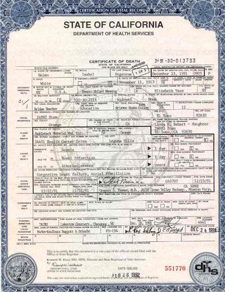 What\'s on Your Death Certificate? - The Funeral Law Blog